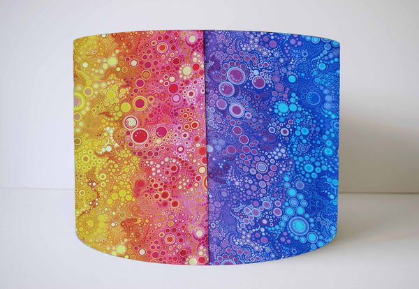 bright rainbow bubble lamp shade