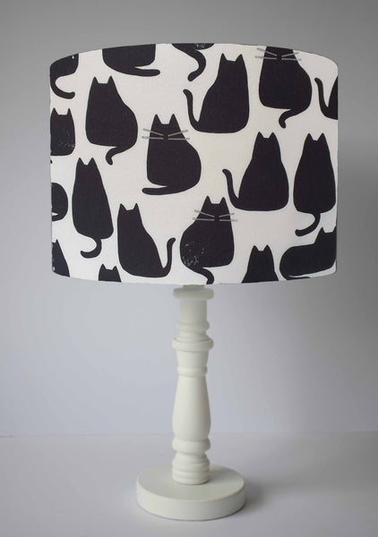Black Cat Silhouette Lampshade, Cat Home Decor Accessory
