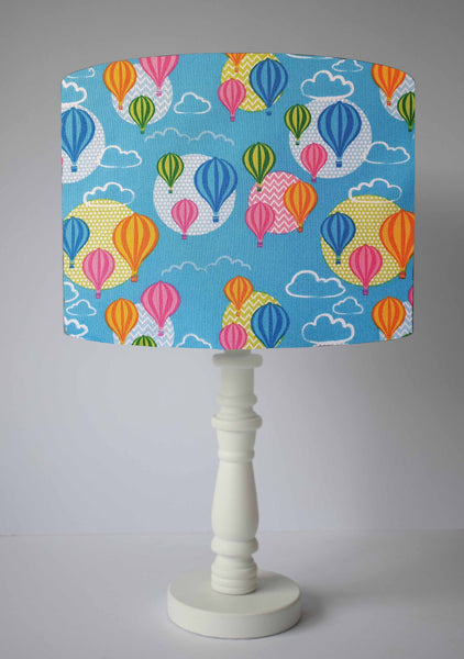 Blue Hot Air Balloon Lampshade, Fun Lampshade For Playroom