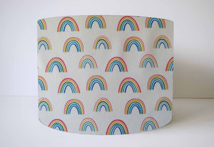 rainbow on white lampshade