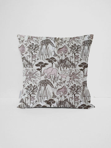 mint and grey safari animal cushion cover nursery