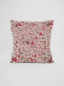 Pink Woodland Cushion Cover, Rabbit Nursery Decor
