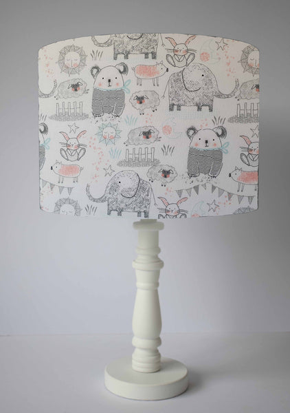 cute animal table lampshade baby girl