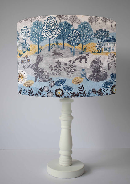 Blue Woodland Light Shade, Woodland Lampshade