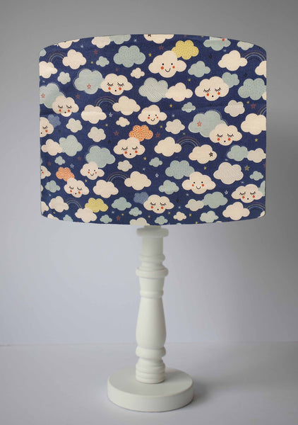Happy Cloud Lampshade, Navy Blue Cloud Light Shade