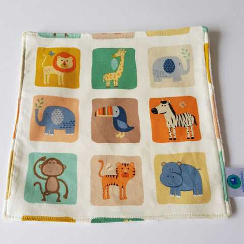 Jungle animal block lovey blankie