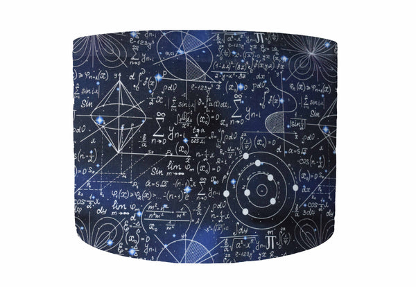 maths themed lampshade