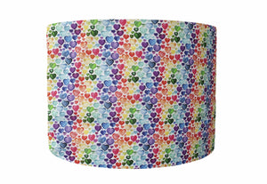 little rainbow hearts ombre lampshade