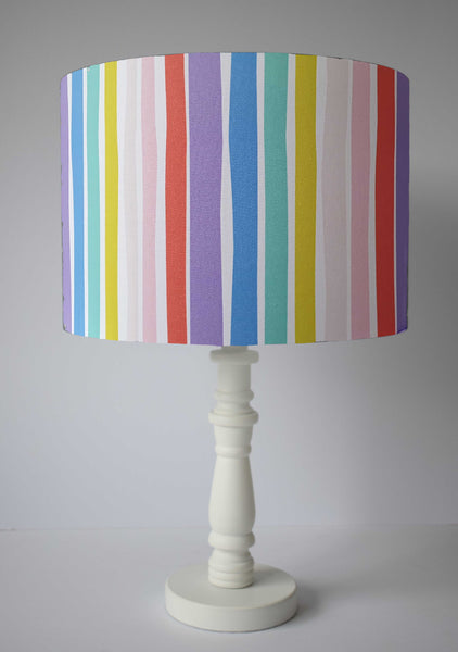 candy rainbow stripe table lamp shade
