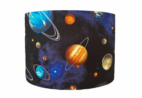 Bold planet and space lampshade