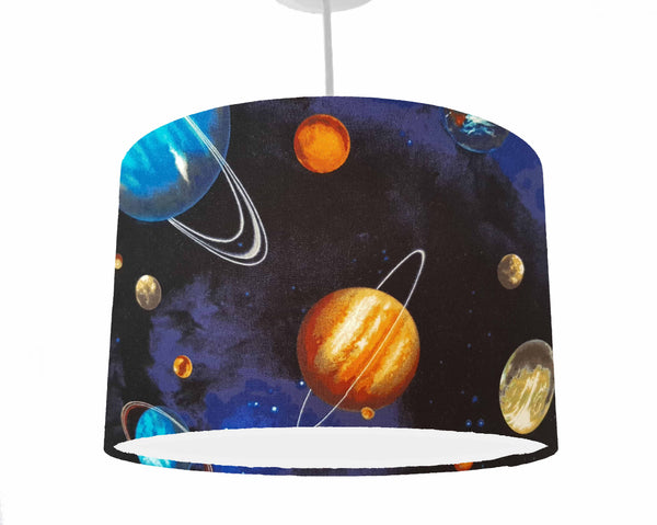 Planet and space ceiling light shade