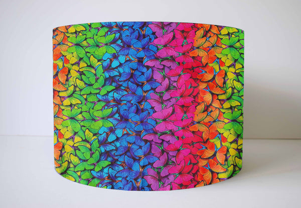 rainbow butterfly lampshade
