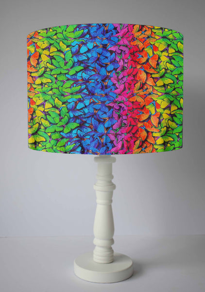 graduated rainbow butterfly table lamp shade