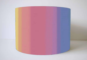 pastel rainbow graduated lampshade