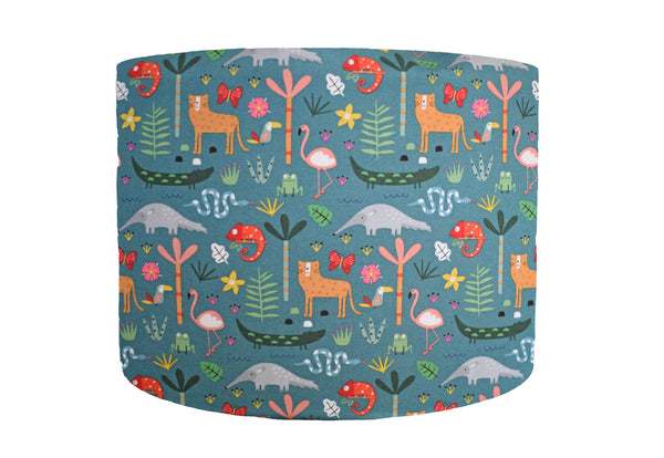 rainforest animal lampshade