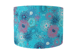 Turquoise coral reef lampshade