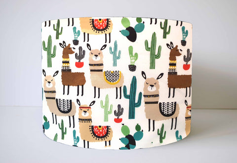 white alpaca and llama cute lampshade for children