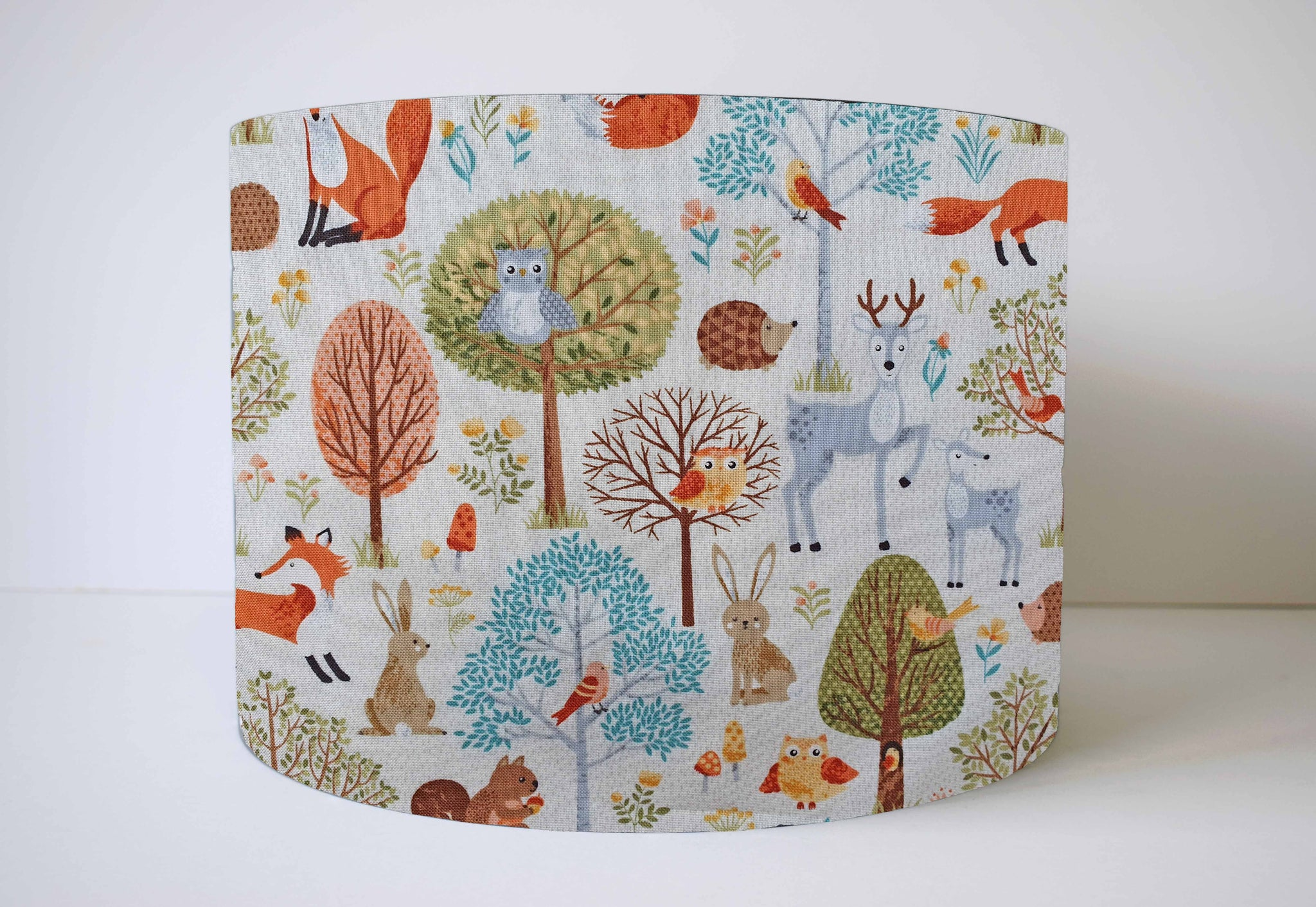 Woodland Animals Lampshade, Scandi Nursery Decor