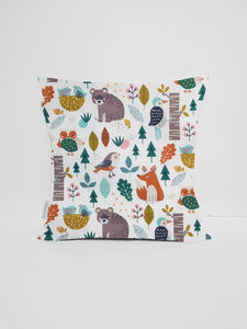 woodland animal nursery cushion cover