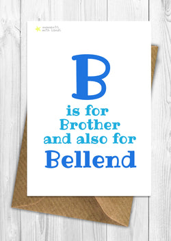 B is for Bellend