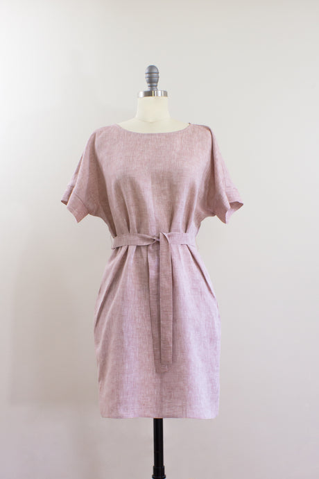 Elisabetta Bellu Sandy belted kimono linen summer dress front