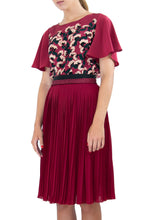 Elisabetta Bellu Efisina red pleated chiffon skirt