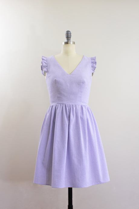 Elisabetta Bellu Iris cotton seersucker summer dress front