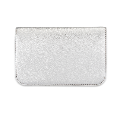 metallic-silver-flap