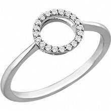 Load image into Gallery viewer, 14K White 1/10 CTW Diamond Circle Ring