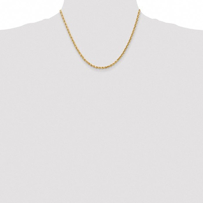 Leslies 14K 3.00 mm Diamond Cut Rope Chain