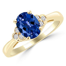 Load image into Gallery viewer, 1.16ct. Tanzanite and Diamond Engagement Ring