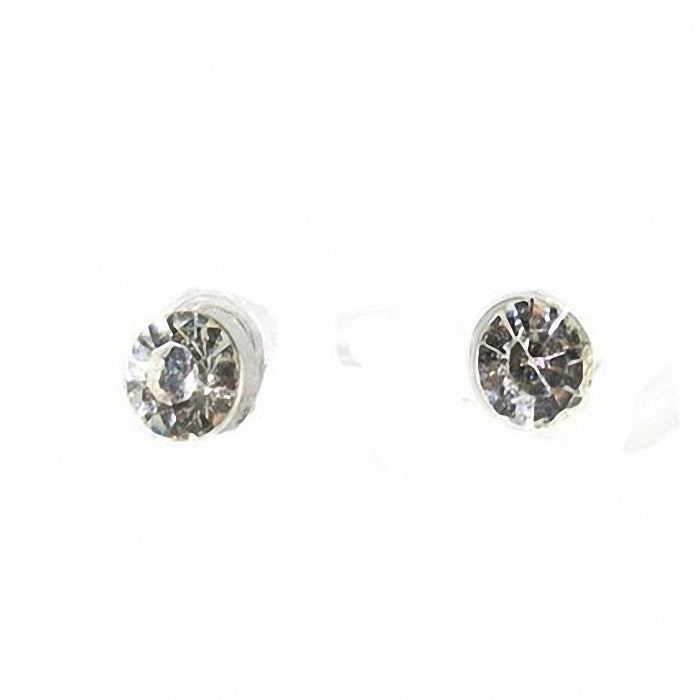 6mm round faceted Crystal stud Earrings