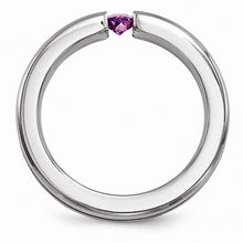Load image into Gallery viewer, Titanium Satin Amethyst & Purple Anodized 4mm Band