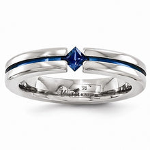 Load image into Gallery viewer, Titanium Sapphire & Blue Anodized 4mm Band