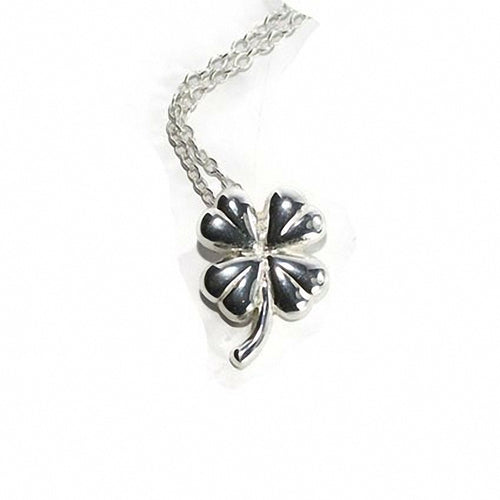 Silver plated  Shamrock Necklace