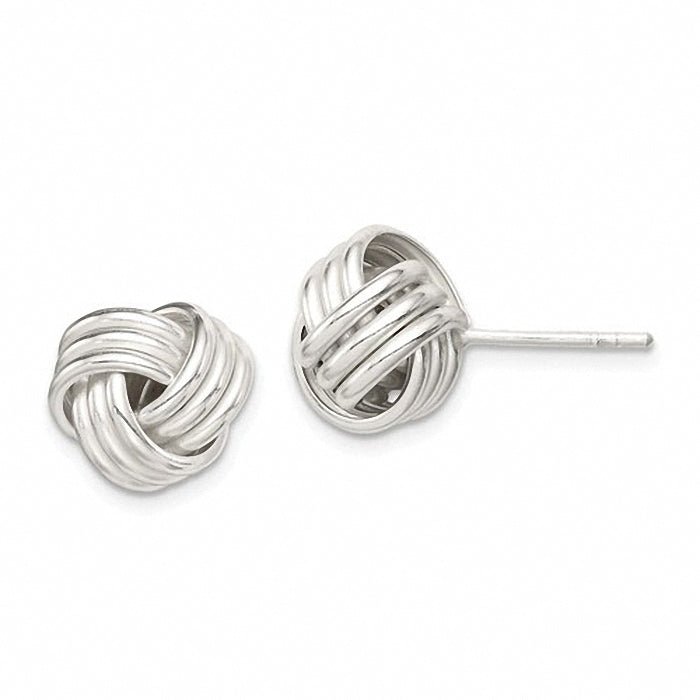 Beautiful Sterling Silver Love Knot Earrings