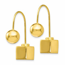 Load image into Gallery viewer, Leslie's Sterling Silver Gold-tone Dangle Earrings