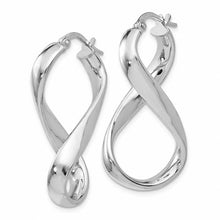 Load image into Gallery viewer, Leslies Sterling Silver Polished Twisted Hoop Earrings