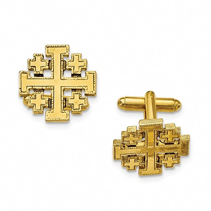1928 Collection 14k Gold-plated Jerusalem Cross Cuff Links