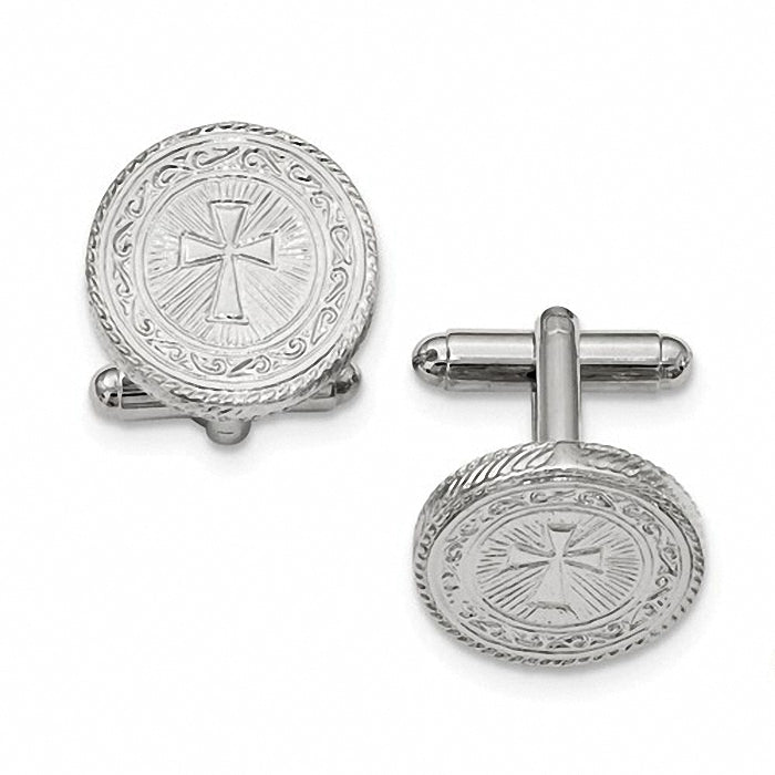 1928 Collection Silver-tone Cross Cuff Links