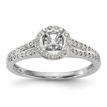 Load image into Gallery viewer, Beautiful Halo 14k White Gold Diamond Semi-Mount Engagement Ring