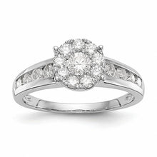 Load image into Gallery viewer, Magnificent Channel Set 14K White Gold Diamond Engagement Ring