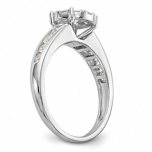Magnificent Channel Set 14K White Gold Diamond Engagement Ring