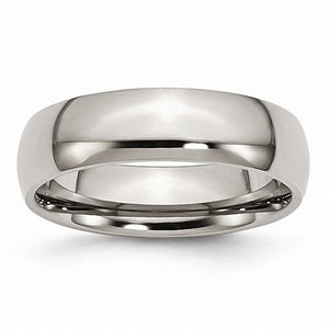 Titanium 6mm Polished Band