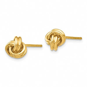 Adorable Double Knot 14k Yellow Gold Love Knot Earrings
