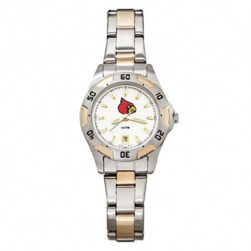 UNIV OF LOUISVILLE ALL-PRO WOMEN'S TWO-TONE WATCH W/BRACELET