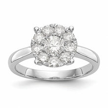 Load image into Gallery viewer, Stunning 14K White Gold Diamond Engagement Ring