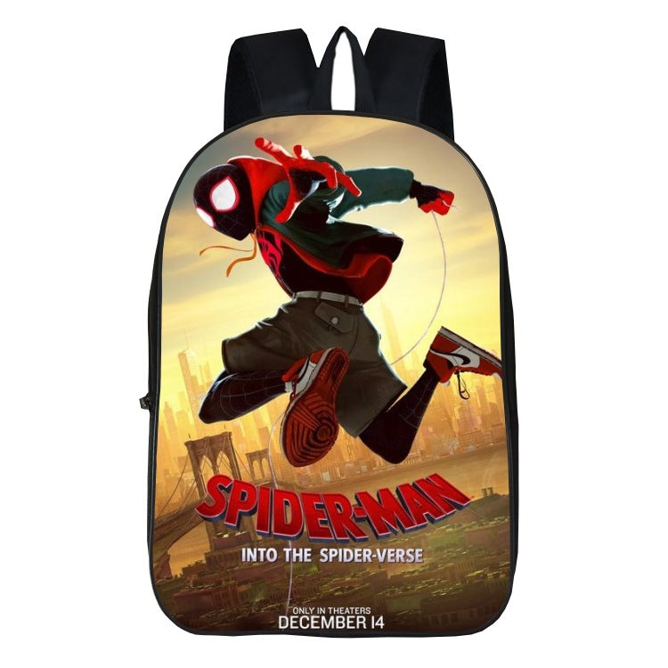 New  spider man into the spider-verse print backpack school bag