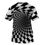 3D  Vortex  T-shirt Unisex Short Sleeve Tops