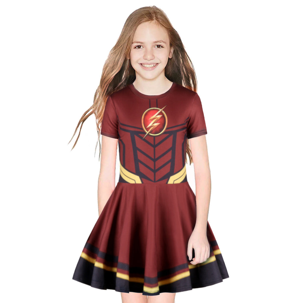 Kid Pleated dress The Flash  Short Sleeve Pleated dress